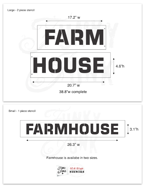 Farmhouse Stencil from Old Sign Stencils