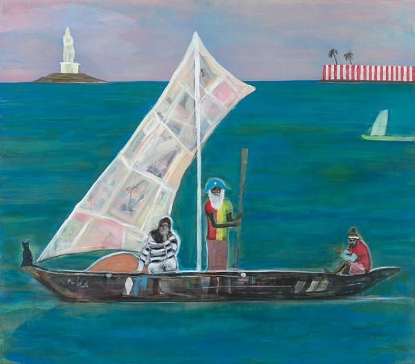 "Arte, pinturas, ""Kanyakumari fishermen"" by Adam Lester, 2017"
