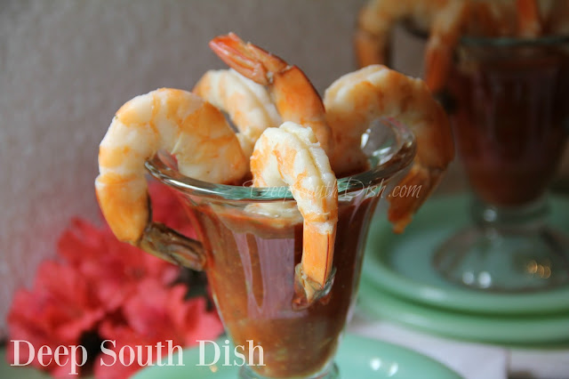 Jumbo or colossal shrimp, poached or oven roasted, and served with a homemade cocktail sauce.