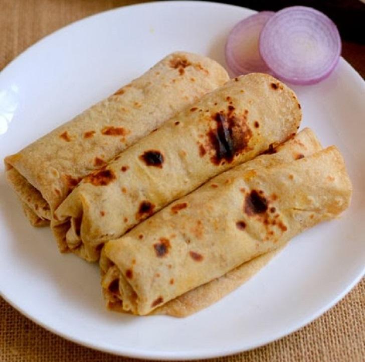 Chapati Rolls Recipe