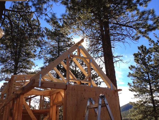 Framing the Upper Walls and Roof