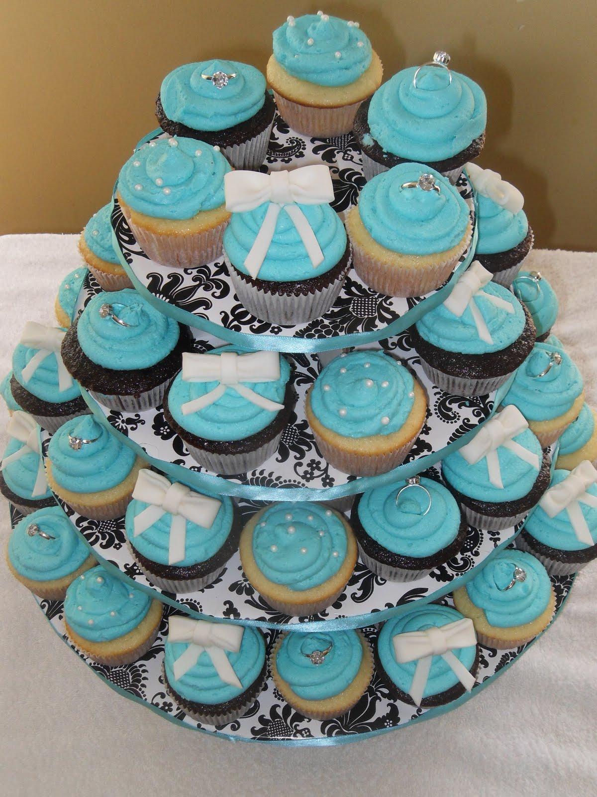 The Sweetest Bridal Shower Cakes   Martha Stewart Weddings  Tiffany Bridal Shower Cakes