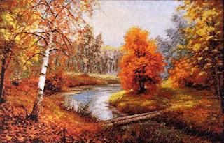 вышивка золотая осень