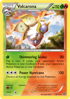 Volcarona Steam Siege Pokemon Card