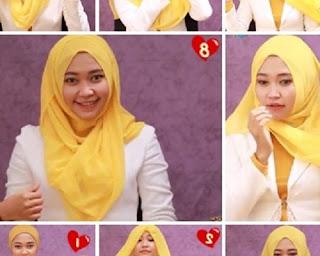 hijab pashmina simple untuk sehari-har
