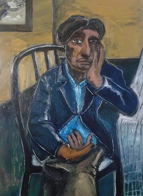 Bernardo Santiago Angeles, Mi madre, 2015 Óleo sobre lienzo  70 x 50 cm, Colección M.S. © Archivo Fotográfico Santiago. COPYRIGHT  2015: Santiago.