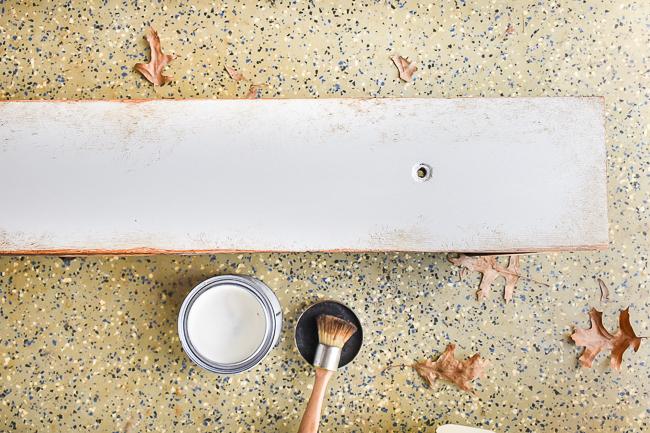 Apply dark wax to edges of furniture