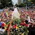 Así se desarrolló el rosario por la paz en Caracas