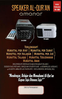 Speaker Qur'an Amanar 16 Gb