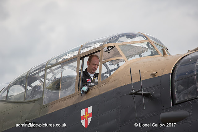 BBMF Lancaster testing the engines