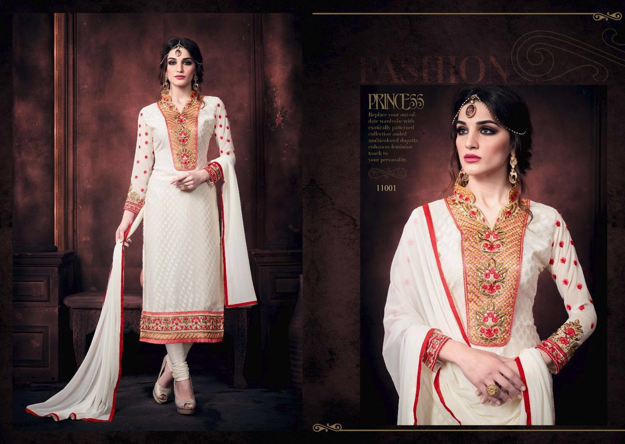 Vaidik – Embroidery Brasso Churidar Suits Buy Online