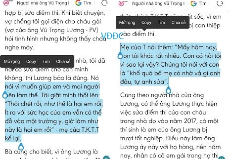Từ vụ sửa điểm thi ở Hà Giang: Là đấng sinh thành mà thiếu trung thực với con là tội ác!