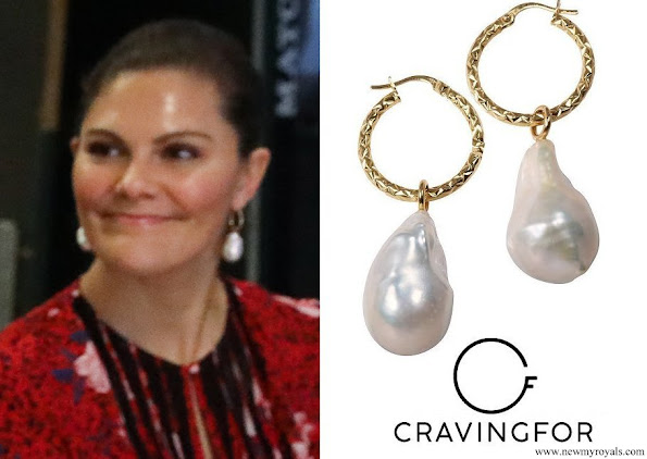 Crown Princess Victoria wore Cravingfor Jewellery Stockholm Baroque Pearl Earrings