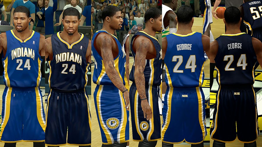 NBA 2K14 Pacers Away Jersey Color Fix