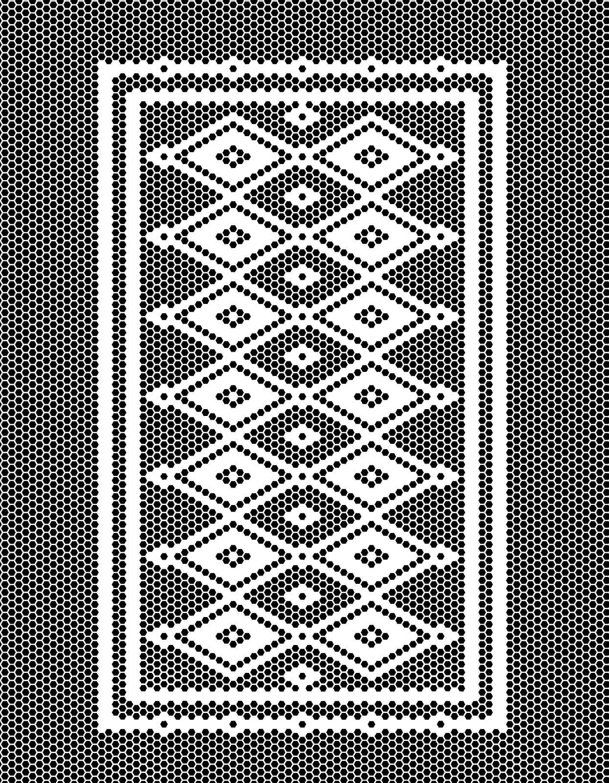 Hexagon Tile Patterned Rug