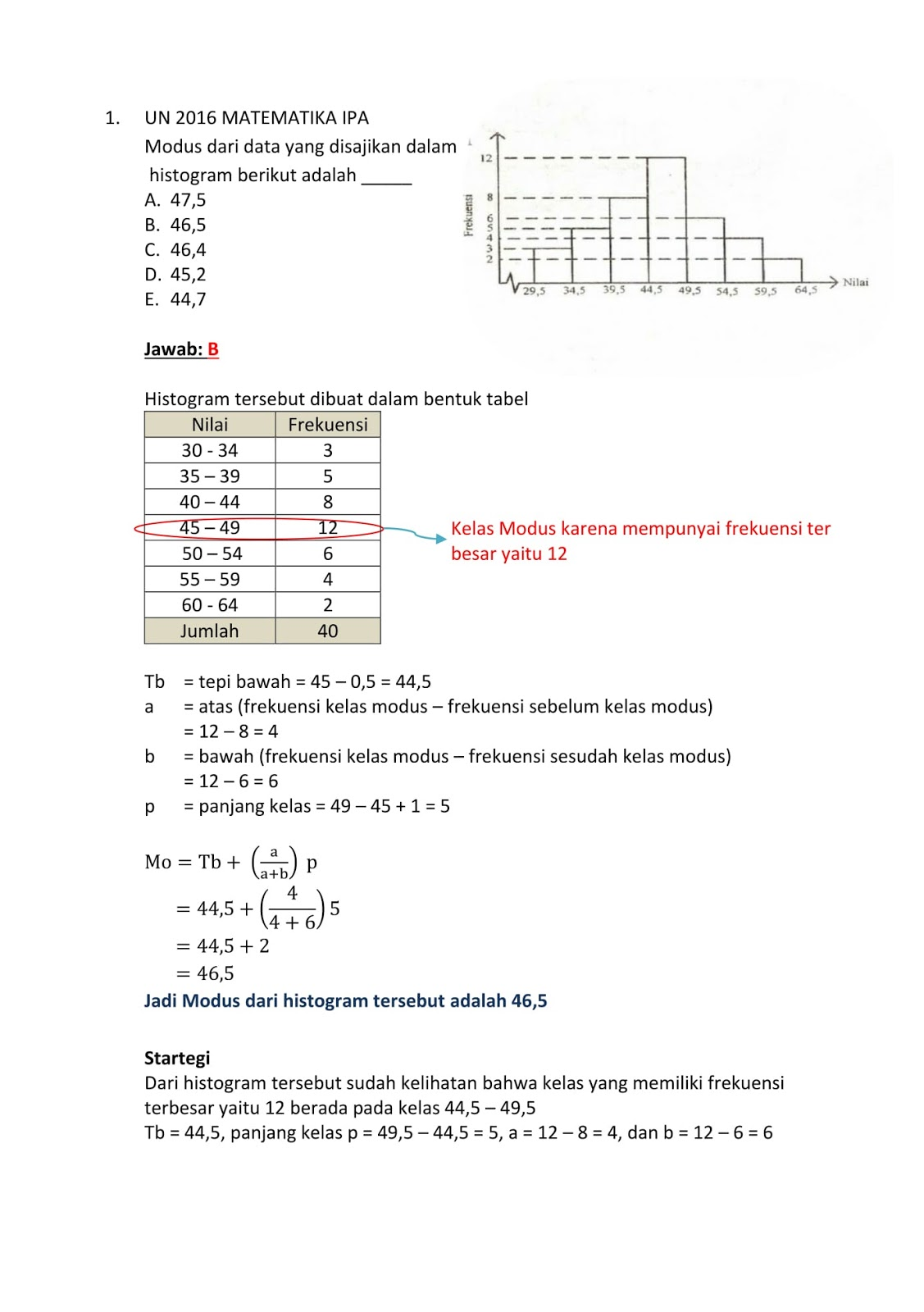 Contoh Soal Dan Pembahasan Statistika Kelas 12 : contoh, pembahasan, statistika, kelas, Contoh, Sbmptn, Matematika, Statistika, Kumpulan, Pelajaran