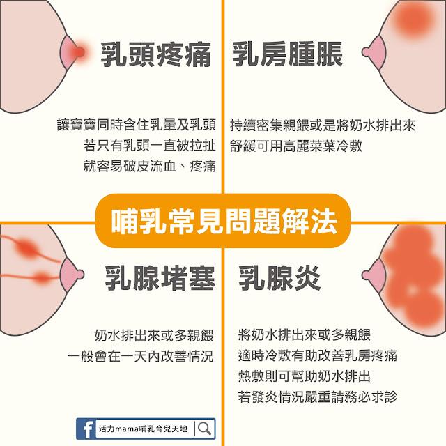 哺乳問題解決方法 乳頭疼痛 乳房腫脹 乳腺堵塞 乳腺炎