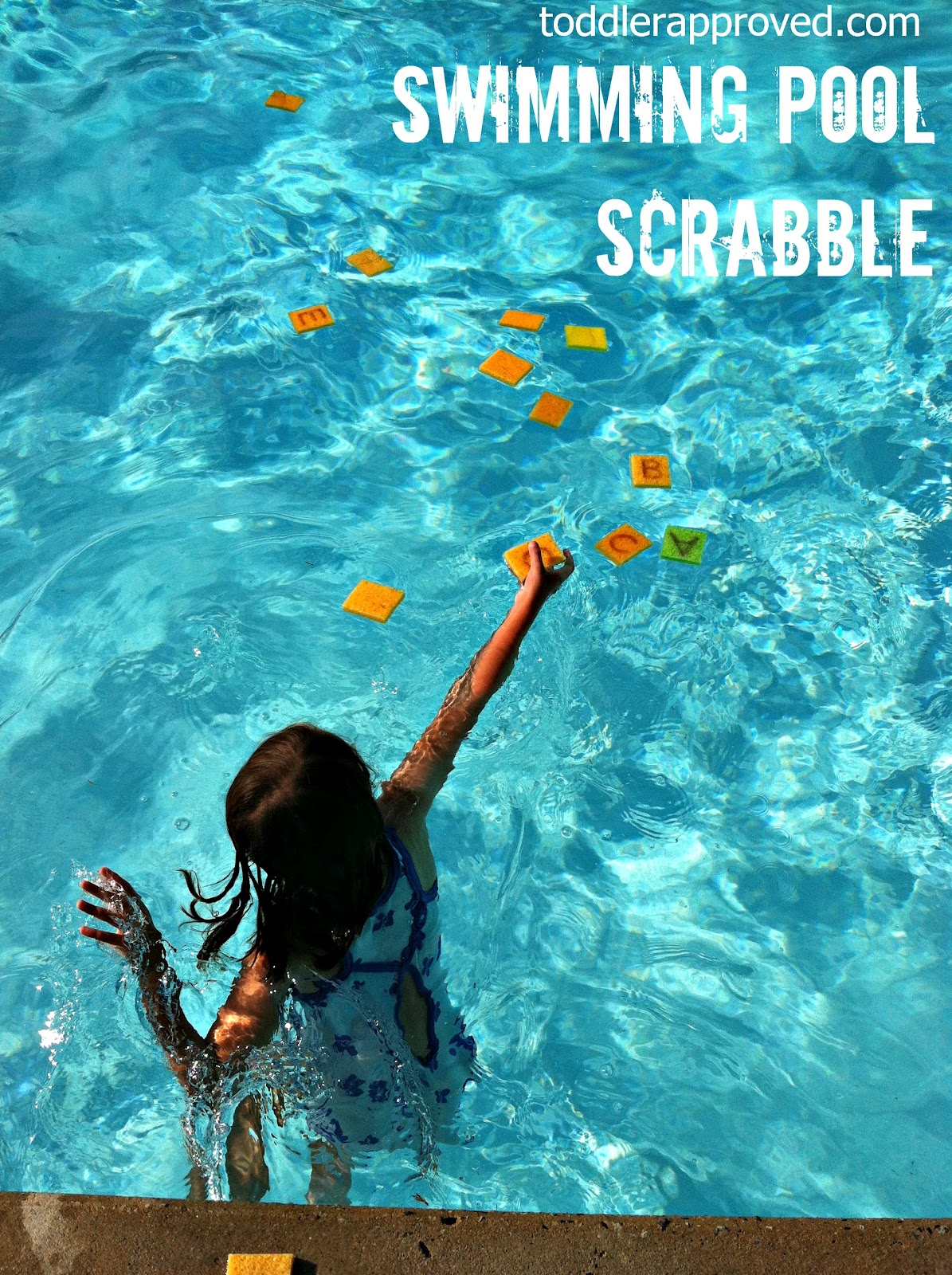 Toddler approved swimming pool scrabble - Swimming pool games for two players ...