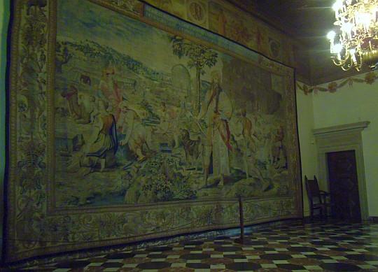 Zamek Królewski na Wawelu. Sala pod Zodiakiem.