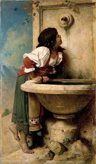 L C Aon   onnat     Fille  romaine   C A  la  fontaine