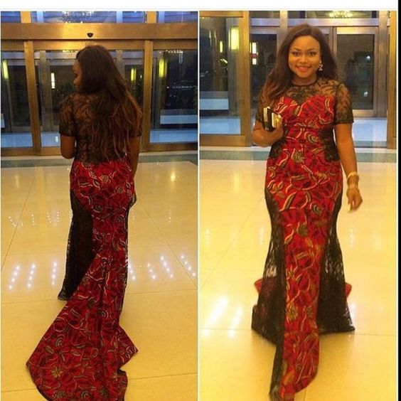 Temmie House Of Fashion: Glamorous Ankara Dinner Gown For The Pretty ...