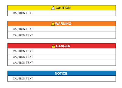 Caution, Warning, and Danger Styles