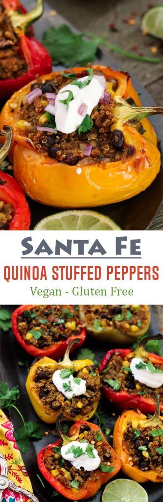 Santa Fe Quinoa Stuffed Peppers