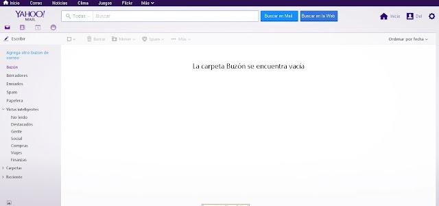 Bandeja de entrada de Yahoo!