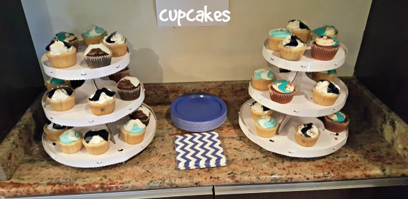 little man baby shower assorted cupcakes