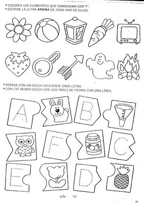 exercícios alfabetização infantil