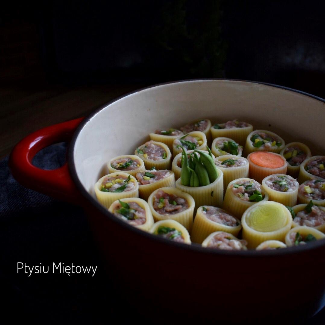 makaron, pasta, obiad, ptysiu mietowy
