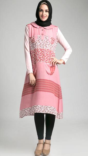 Gambar Model Baju Muslim Batik Untuk Ibu Hamil Modern