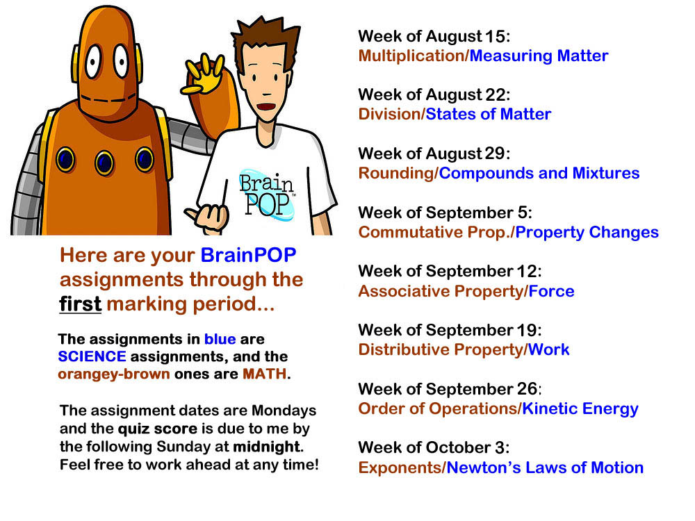 Brainpop assignments for 1st quarter 2016 2017 portable 586 brainpop of the week they go on line on mondays and dont expire until midnight on the next sunday night note this is an assessed assignment ccuart Image collections
