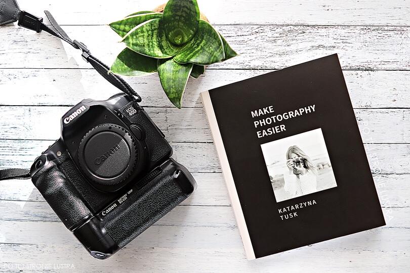 książka make photography easier i lustrzanka canon eos 40D