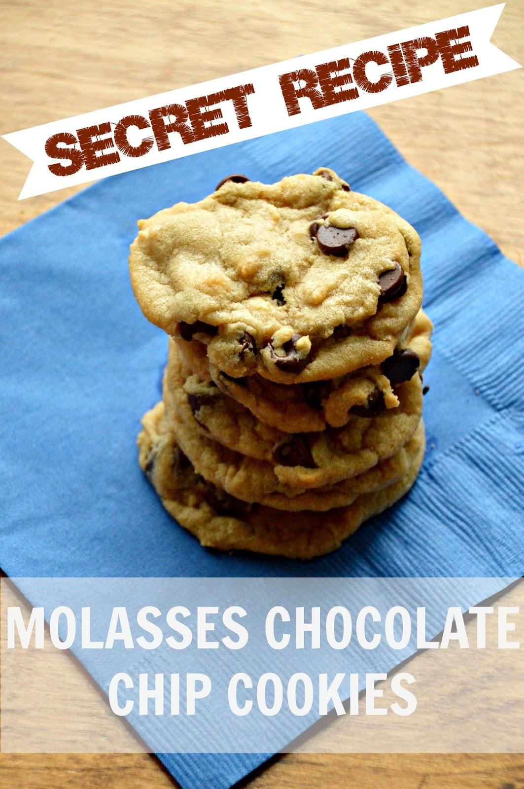 Secret Recipe - Molasses Chocolate Chip Cookies! - Tatertots and Jello