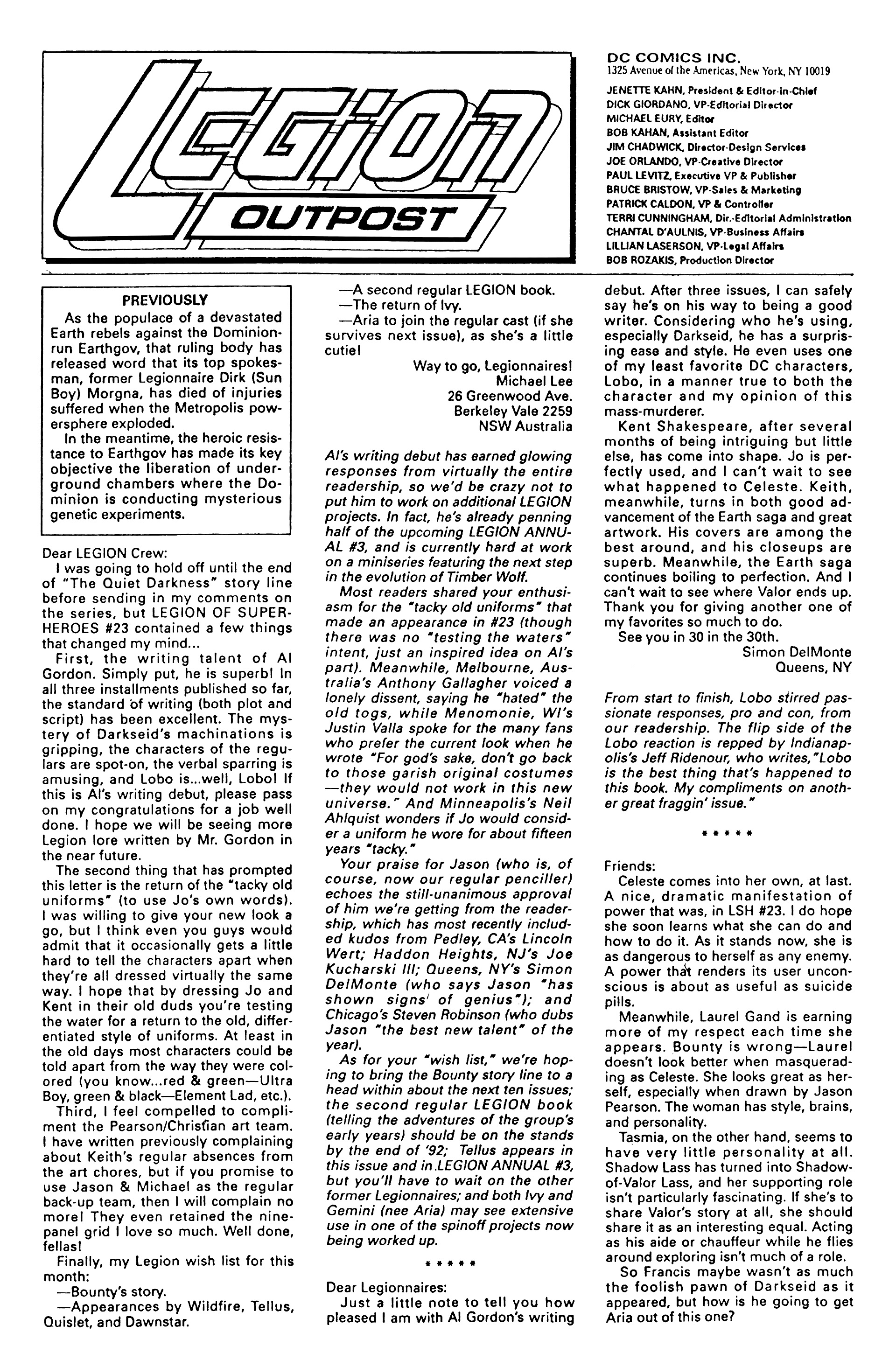 Legion of Super-Heroes (1989) 28 Page 25