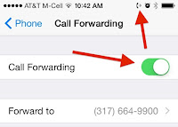 turning on call forwarding