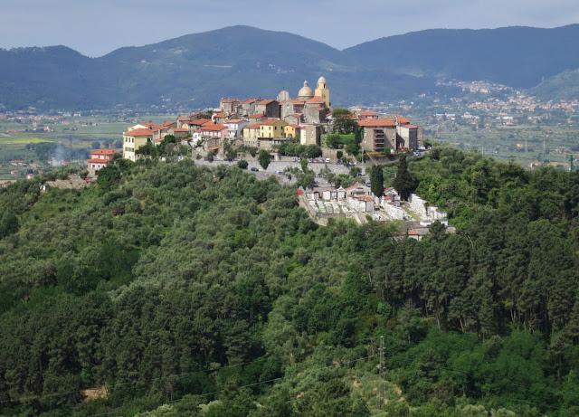 Italian Hill Town of Nicola in Liguria near the Tuscan border & Cinque Terre.
