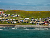 Shismaref, a village in Alaska that voted to relocate to the mainland in the face of sea level rise. (Credit: Bering Land Bridge National Park/flickr) Click to Enlarge.