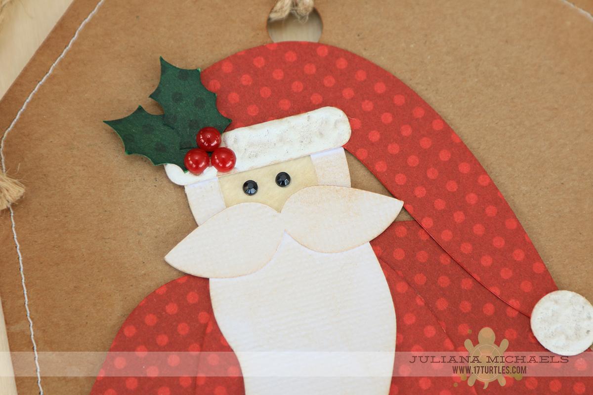 Santa Gift Tags using 17turtles Digital Cut Files by Juliana Michaels
