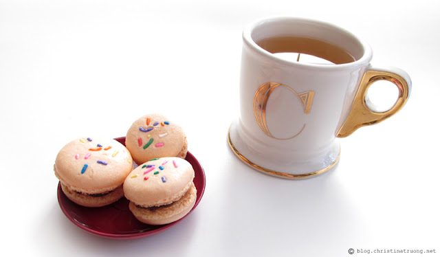 Anthropologie Limited Edition Golden Monogram Mug. Confetti Macaron