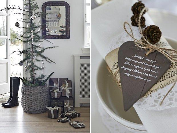 detalle árbol de navidad y adornos
