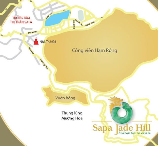 Vị trí Condotel Sapa Jade Hill Lào Cai