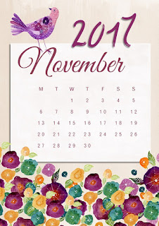 November 2017 calendar image