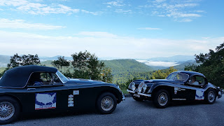 XK150 DHC and XK120 FHC on the Blue Ridge Highway