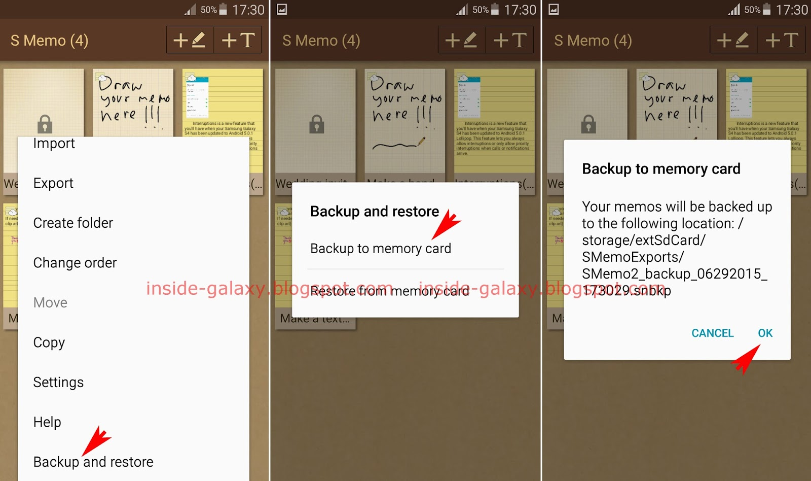 Samsung Galaxy S4: How to Backup Memos to SD Card in S Memo App in