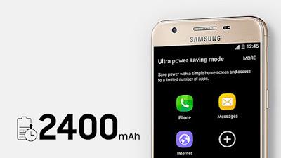 Kapasitas baterai Samsung Galaxy J5 Prime