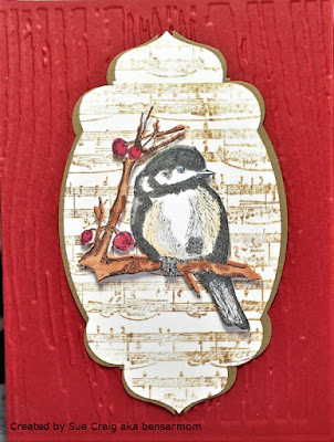 ODBD Chickadee, ODBD Custom Chickadee Die, Card Designed by Sue Craig aka bensarmom