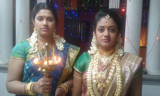 Meerakrishna and Preetha as Seetha and Mathikal in Moonumani Serial