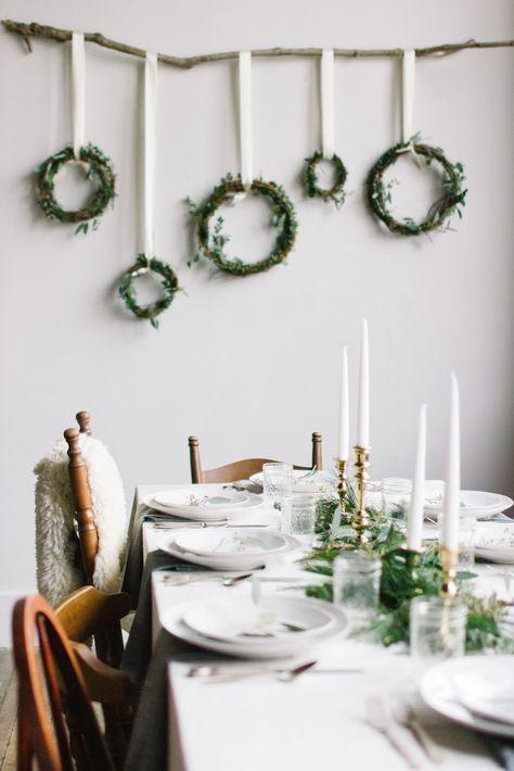 christmas scandinavian dinning room decor idea